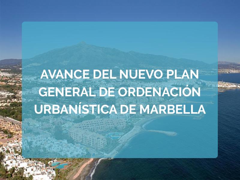 Avance del nuevo Plan General de Ordenación Urbanística de Marbella. Nueva Prórroga del plazo de presentación de propuesta.