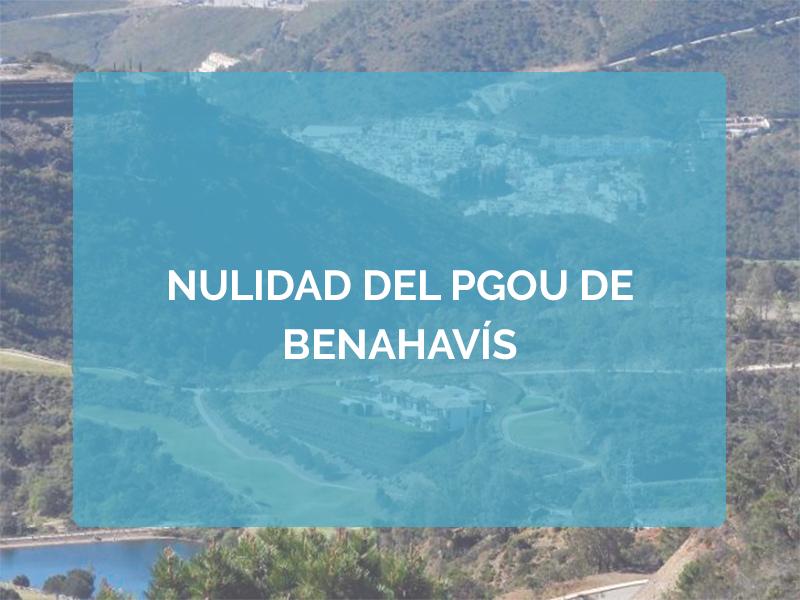 NULIDAD DEL PGOU DE BENAHAVÍS